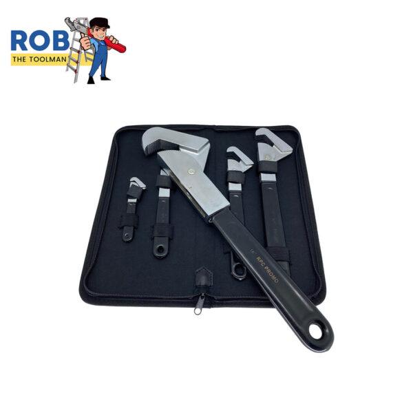 Rob The Toolman Set Wrenches Black Chrome 4