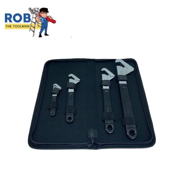 Rob The Tool Man Super Wrench 4 Set Black Chrome